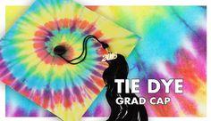 Tie Dye Graduation Cap