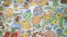 Adorable Forest Creatures Polyester Cotton Blend by debscrafts55, $20.00