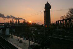Sonnenaufgang-1-11 Bhf. Ostkreuz mit Wasserturm