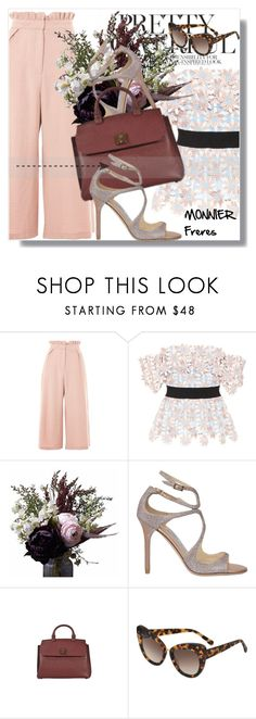 """""""Monnier Freres !!"""" by dianagrigoryan ❤ liked on Polyvore featuring Topshop, self-portrait, Abigail Ahern, Jimmy Choo, MCM and STELLA McCARTNEY"""