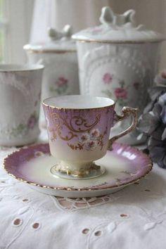 """""""France Antique 1920-1930 ares Nouveau cup and saucer"""""""