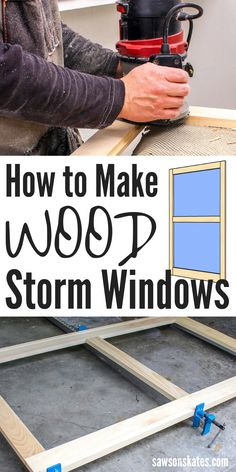 Wood Storm Windows Seal Out Drafts And Complement The Exterior Of An Old House I