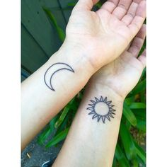 Pin for Later: 54 Sister Tattoos That Prove She's Your Best Friend in the World Sun and Moon