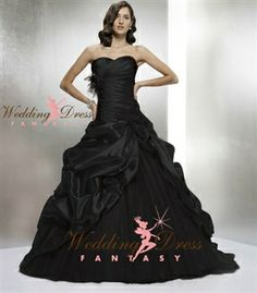Black Wedding Dress from WeddingDressFantasy.com #bridal #gown