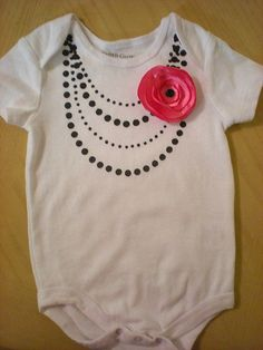 {Tutorial} DIY Necklace Top Onesie