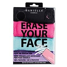 image of Erase Your Face 4-Pack Reusable Makeup Removing Cloth for Sensitive Skin
