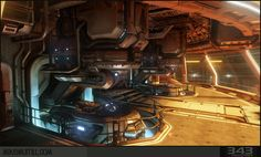 Halo 4 Lookout Room Study (UE4) - Polycount Forum