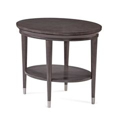 product image for Bassett Mirror Company Essex End Table in Soft Grey