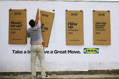 Leo Burnett & IKEA add value by putting posters that were also branded moving boxes, with playful tag lines, discounts on new furniture, moving tips and dinner offers for those without a kitchen...