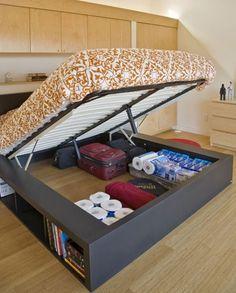 Under the bed storage idea!