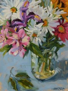 199 best pretty paintings daisies images on pinterest in 2018 daily paintworks petals a plenty original fine art for sale mightylinksfo