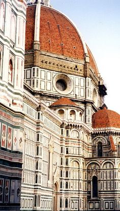 Filippo Brunelleschi's dome in Florence, Italy.  Constructed with noteworthy ribbed vaulting.   1420-1436