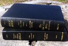 Study Bibles (Bibles rebound by Ace Bookbinding Co. Book Rebinding, Bible Art, Rebounding, Study, Personalized Items, Check, Books, Studio, Libros