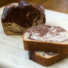 vegan marbled banana bread