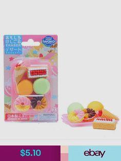 Assorted Color Trays. PencilThings Hotdog /& Shrimp Bento Meal Japanese Erasers