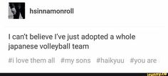#haikyuu #anime Worst: I've adopted MORE THEN ONE japanese volleyball team