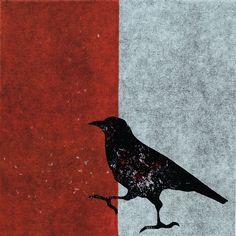 Crows Ravens, Gelli Printing, Bird Art, Art Ideas, Moose Art, Birds, Illustration, Room, Prints