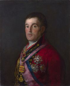 Francisco Goya: Portrait of the Duke of Wellington, 1812-14.