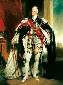 Georgian Era - William IV (1830-1837) King of the United Kingdom and Hanover - Portrait by Sir Martin Archer Shee 1833 - The definition of the Georgian era is often extended to include the short reign of William IV, which ended with his death in 1837. The term Georgian is typically used in the contexts of social history and architecture.