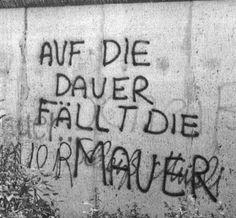 Berlin wall graffiti - by Stefan Dressler Berlin Wall, Graffiti Lettering, Cold War, Street Art, Germany, History, White Photography, Black White, City