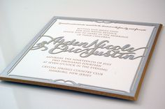 Wedding Invitation by RedBliss Design - #redblissdesign #wedding #custom #invitation #lasercut #engraved #beveled