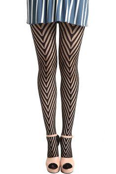 Having slender legs capable of wearing things like this     Geometric Mesh Black Tights #Romwe