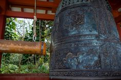 The sacred bell at Byodo-In Temple. Ringing the gong is much harder than you might think! https://terryambrose.com/2018/06/sacred-bell/