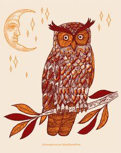 Owl by Miss happy Pink Pinned by www.myowlbarn.com