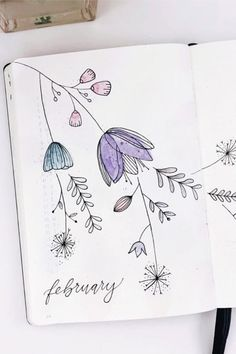 Bullet Journal Monthly Cover Ideas For February 2020 - Crazy Laura - - Changing up your bullet journal theme and need some cover page ideas? These adorable February monthly cover pages will help you get started! February Bullet Journal, Bullet Journal Cover Ideas, Bullet Journal 2020, Bullet Journal Notebook, Bullet Journal Ideas Pages, Bullet Journal Layout, Journal Covers, Bullet Journal Inspiration, Book Journal