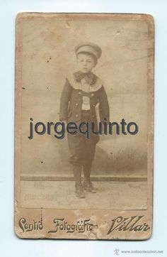 Fotografía antigua: RETRATO. NIÑO. CENTRO FOTOGRÁFICO VILLAR. CALLE DE CARAVIJA, 10. MURCIA. 6,4 X 10,3 CMS. - Foto 1 - 53949164
