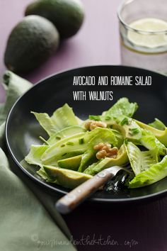 Cool, crispy romaine, smooth avocados and toasty walnuts are dressed with a Dijon mustard vinaigrette in this easy salad.