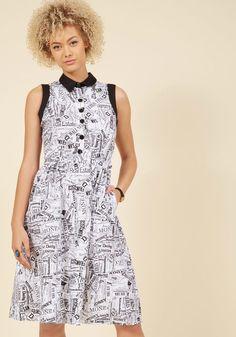 Walk a Fine Headline Shirt Dress