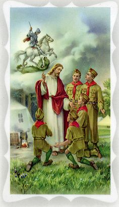 Boy Scout Prayer Card - With Scout Oath and Law