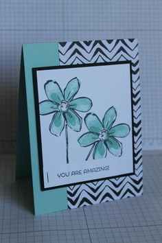 Handmade Card, Your Simply Amazing, Thank you, non occasion, using stampin up