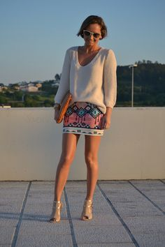 Knit with the aztec skirt