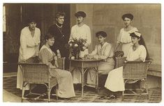 Grand Duchess Maria Anna and her 6 daughters of Luxemburg