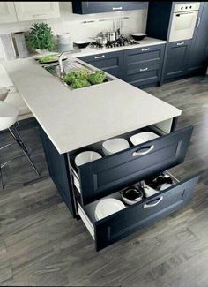 46 cute and small kitchen design ideas. Small kitchen design ideas should be ways you come up with to save as much. Kitchen Cabinet Remodel, Modern Kitchen Cabinets, Kitchen Cabinet Design, Kitchen Interior, Coastal Interior, Oak Cabinets, Interior Design, Small Modern Kitchens, Modern Kitchen Design