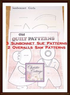 Sunbonnet Sue and Overall Sam Quilt Pattern by ChristieCottage