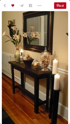 DIY Console Table Living Room Remodel Before and After - Diy Home Decor Crafts Deco Zen, Decoration Entree, Sweet Home, Entry Tables, Console Tables, Hallway Tables, Interior Decorating, Interior Design, Simple Interior
