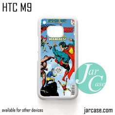 Comic Cover Superman VS Avengers Phone Case for HTC One M9 case and other HTC Devices