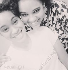My sister was on hand to help out with Natural High :) Thanks Jade #naturalhair