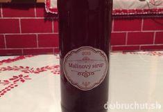 Malinový sirup Drinks, Bottle, How To Make, Food, Syrup, Drinking, Beverages, Flask, Essen