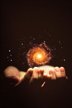 """""""You hold the magic in the palm of your hands"""" -Wtch Cosmos """"The Hands of God"""" Bad News for Atheists: Scientists Say Universe Shouldn't Exist if Big Bang Is True. Cosmos, Believe In Magic, Believe In You, Story Inspiration, Writing Inspiration, Michel Ciry, Gif Kunst, Reiki, Nikola Tesla"""