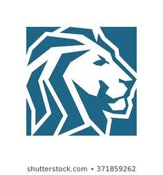 Vector de stock (libre de regalías) sobre Lion Rectangular Abstract371859262