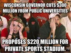It's incredibly sad that sports are deemed so much more important than our own citizens.