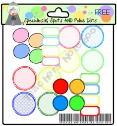 FREE Circle and Ticket Frames product from Speckles-Spots-Polka-Dots on TeachersNotebook.com