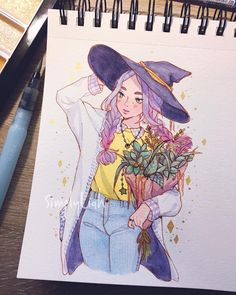 5,024 отметок «Нравится», 57 комментариев — Julissa S.G (@simply.liah) в Instagram: «Finished with this cute little witch. Finally got to use my new starry colors by kuretake, I might…»