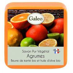 CouleurTropiques,savon Galeo parfum Agrumes, 100g de bonheur