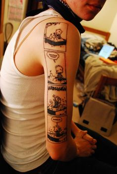 more calvin & hobbes tattoo