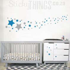 Our Stars Wall Sticker is a very versatile stars wall decal. Can be used on a wall but also on ceilings. Get 50 Stars in 2 colours plus 14 free stars too! Wall Stickers Stars, Wall Decals, Wall Art, Milky Way Stars, Star Wall, 2 Colours, Home Decor, Decoration Home, Room Decor